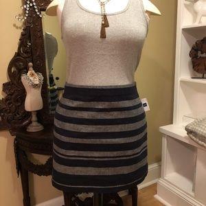 Gap - NWT Blue & Gray Striped Mini Skirt